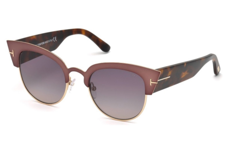 Tom Ford FT0607 Alexandra-02 Sunglasses in 74B - Pink /Other / Gradient Smoke