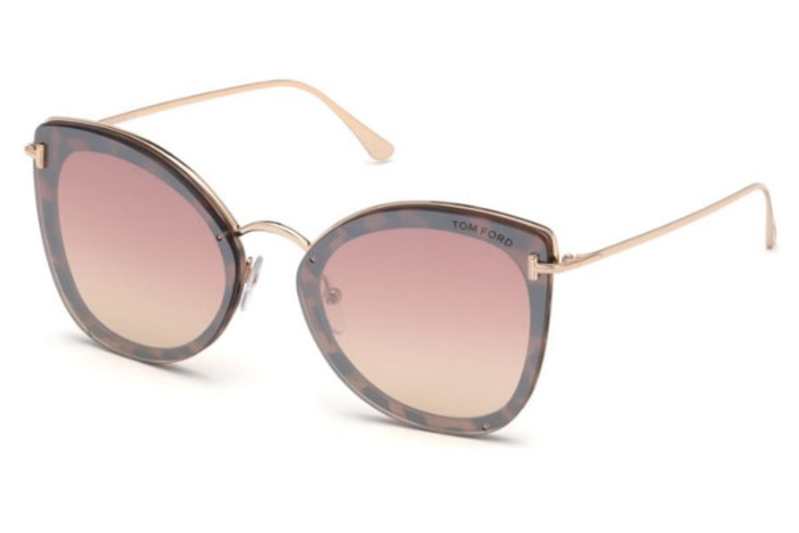 Tom Ford FT0657 Charlotte Sunglasses in 55Z - Coloured Havana / Gradient