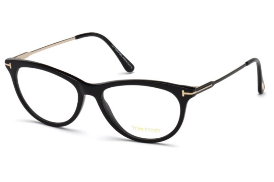 Tom Ford FT5509 Eyeglasses in 001 - Shiny Black