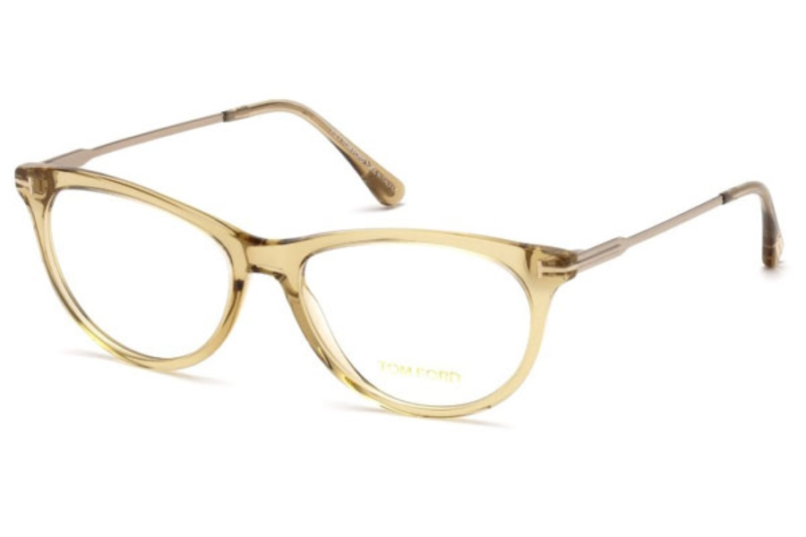 Tom Ford FT5509 Eyeglasses in 045 - Shiny Light Brown