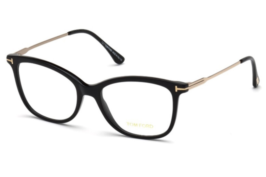 Tom Ford FT5510-F Eyeglasses in 001 - Shiny Black
