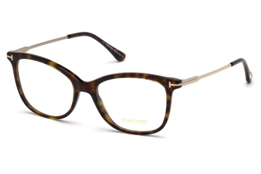Tom Ford FT5510-F Eyeglasses in 052 - Dark Havana