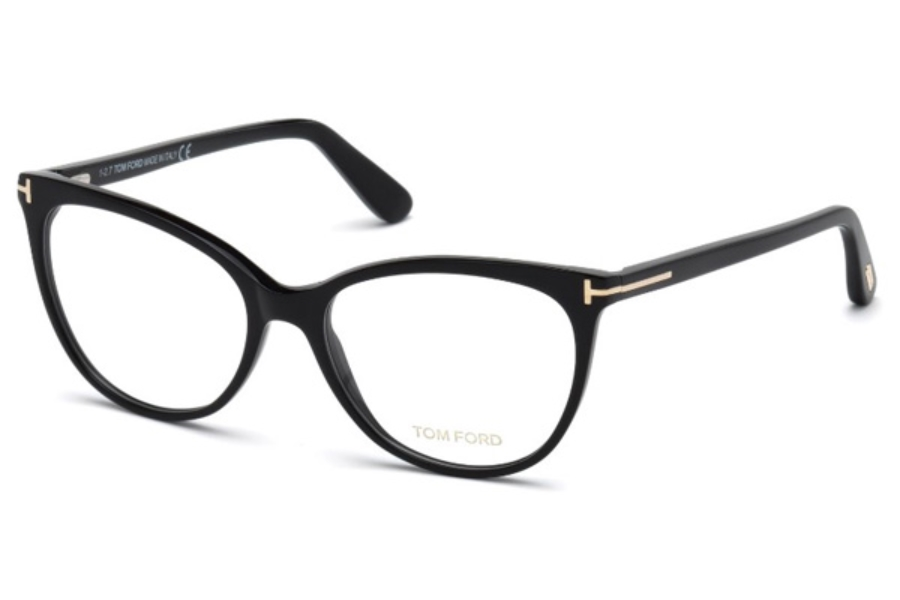 Tom Ford FT5513 Eyeglasses in 001 - Shiny Black