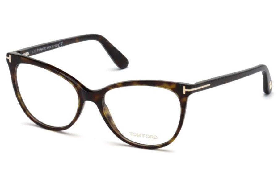 Tom Ford FT5513 Eyeglasses in 052 - Dark Havana
