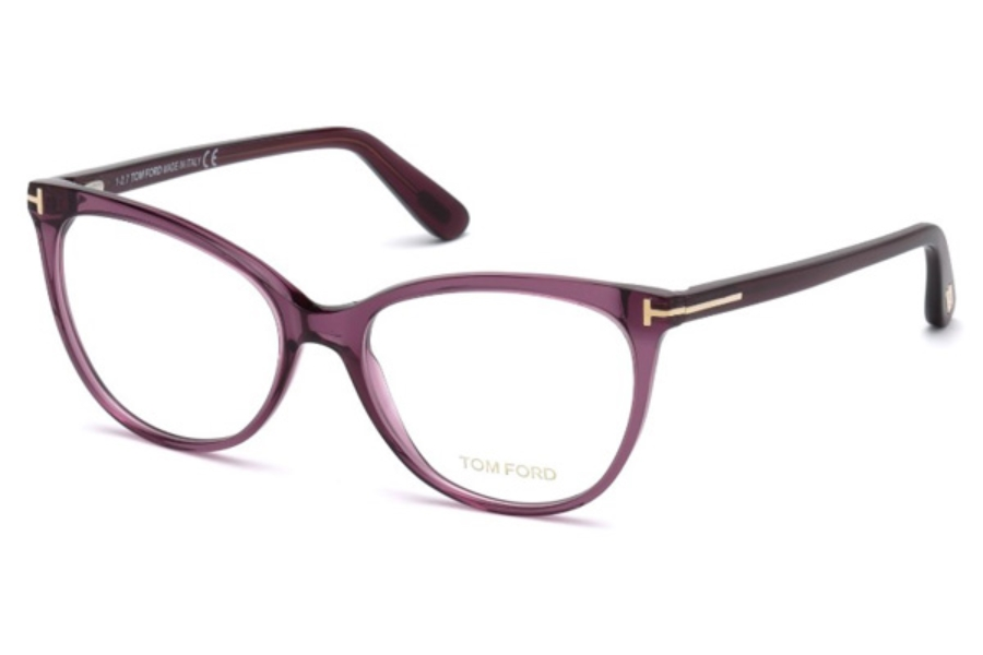 Tom Ford FT5513 Eyeglasses in 081 - Shiny Violet