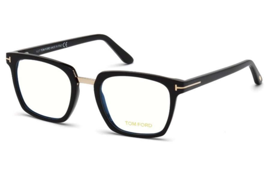 Tom Ford FT5523-B Eyeglasses in 001 - Shiny Black