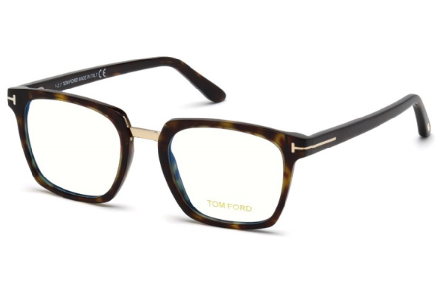 Tom Ford FT5523-B Eyeglasses in 052 - Dark Havana