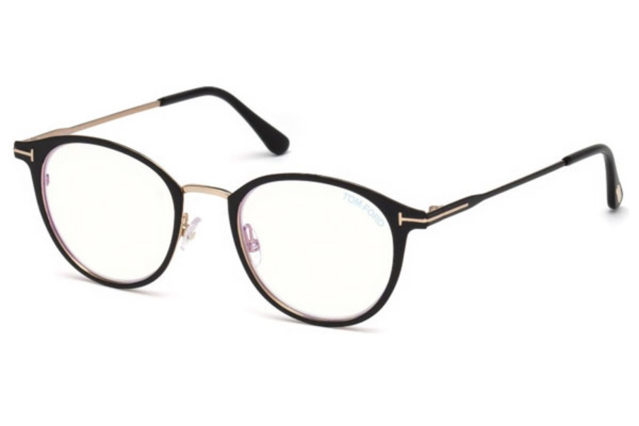 Tom Ford FT5528-B Eyeglasses in 002 - Matte Black