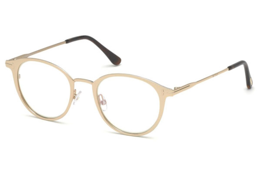 Tom Ford FT5528-B Eyeglasses in 029 - Shiny Rose Gold