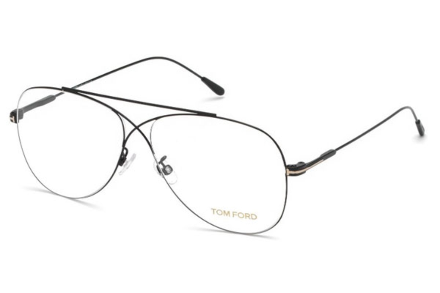 Tom Ford FT5531 Eyeglasses in 001 - Shiny Black