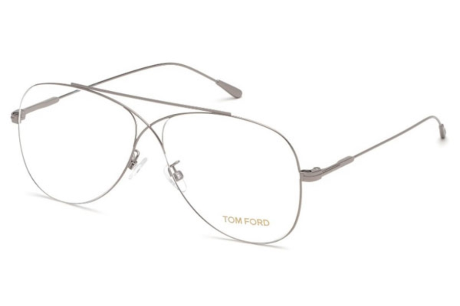 Tom Ford FT5531 Eyeglasses in 014 - Shiny Light Ruthenium