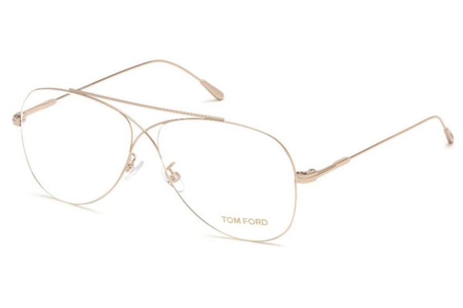 Tom Ford FT5531 Eyeglasses in 028 - Shiny Rose Gold