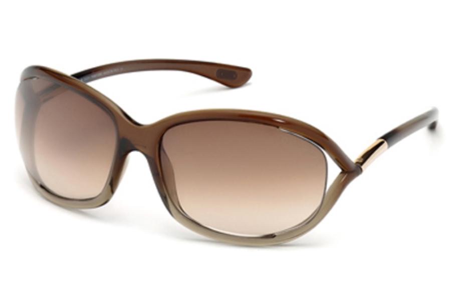 7ebd1fa2ebd8 ... Tom Ford FT0008 Jennifer Sunglasses in 38F - Bronze other   Gradient  Brown ...