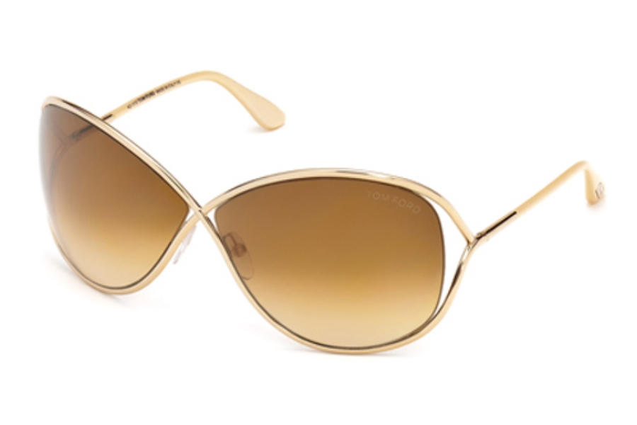 Tom Ford FT0130 Miranda Sunglasses in 28F Shiny Rose Gold