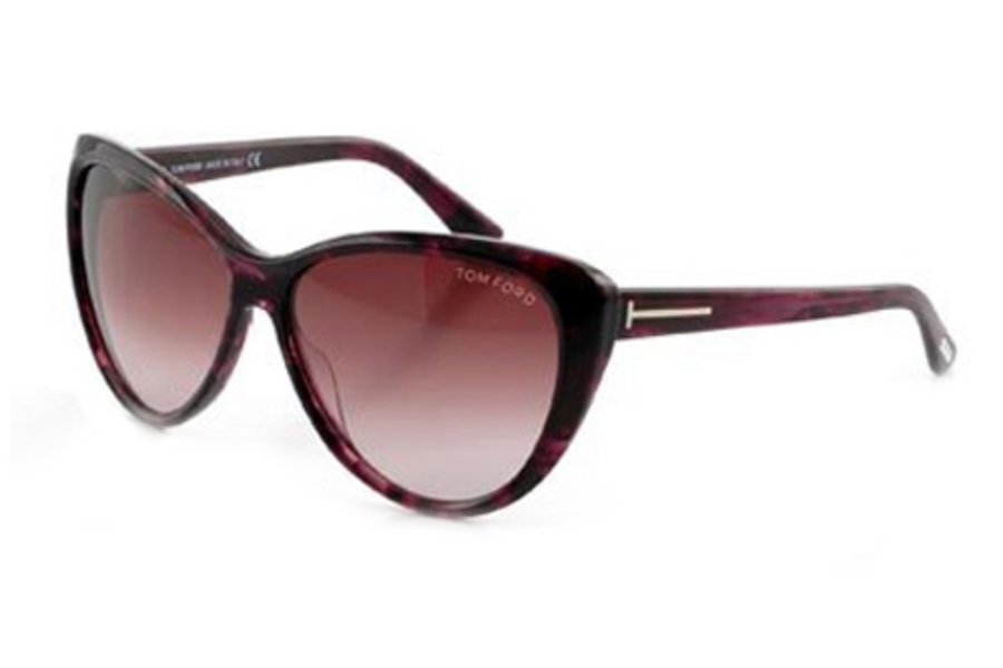 Tom Ford FT0230 Malin Sunglasses in 83T Violet/Other / Gradient Bordeaux