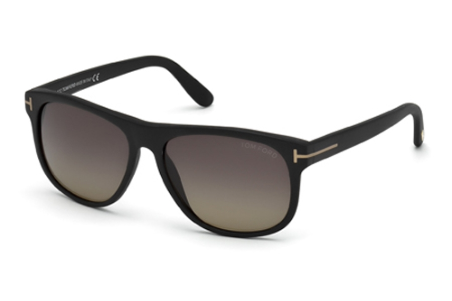 Tom Ford FT0236 Olivier Sunglasses in 02D Matte Black / Smoke Polarized