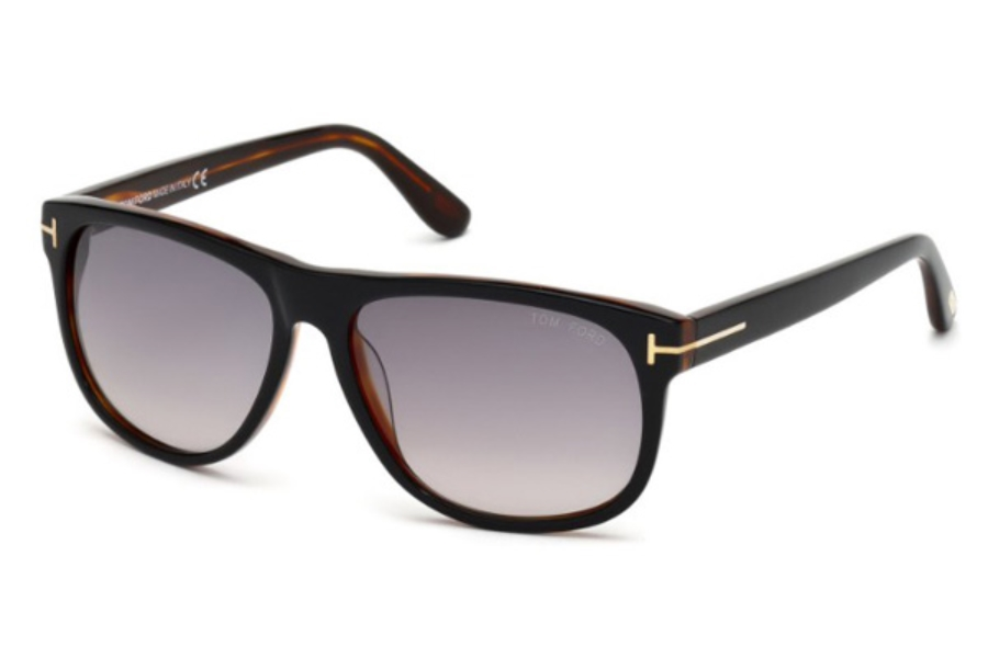 Tom Ford FT0236 Olivier Sunglasses in 05B - Black/other / Gradient Smoke