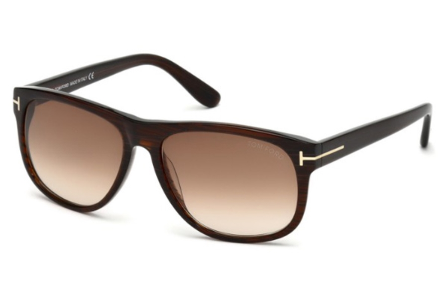 Tom Ford FT0236 Olivier Sunglasses in 50P - Dark Brown/other / Gradient Green