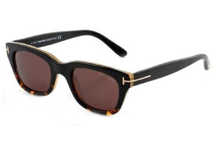 Tom Ford FT0237 Snowdon Sunglasses in 05J Black / Roview Gradient Lens