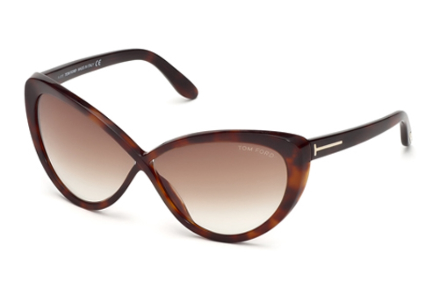 Tom Ford FT0253 Madison Sunglasses in 52F Havana Gradient Brown Lenses