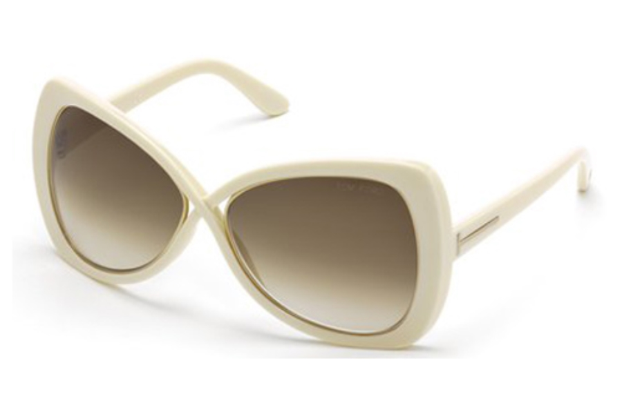 Tom Ford FT0277 Jade Sunglasses in 25F Ivory / Gradient Brown