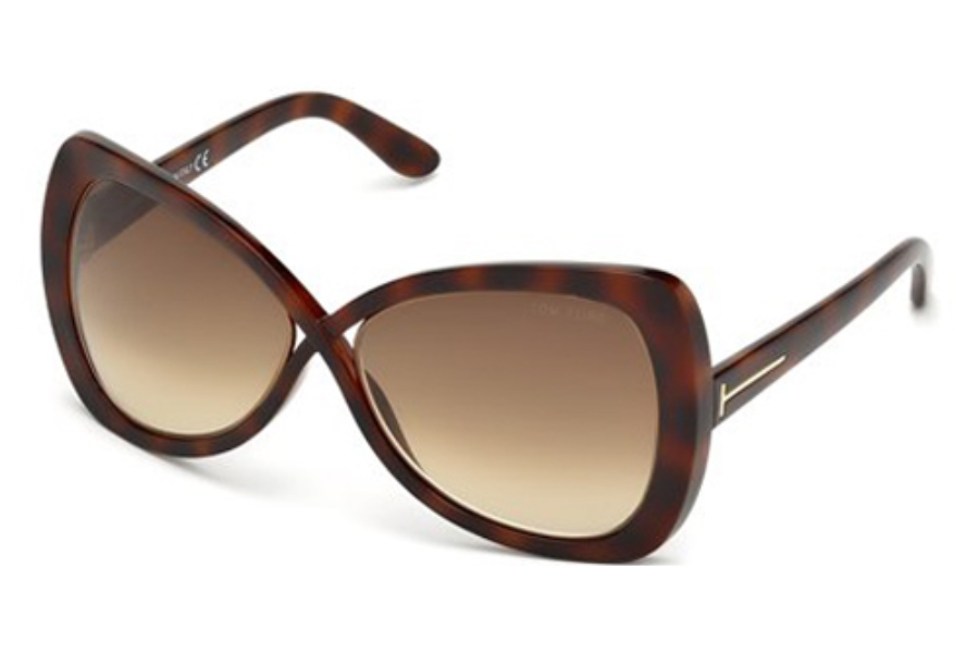 Tom Ford FT0277 Jade Sunglasses in 52F Dark Havana / Gradient Brown