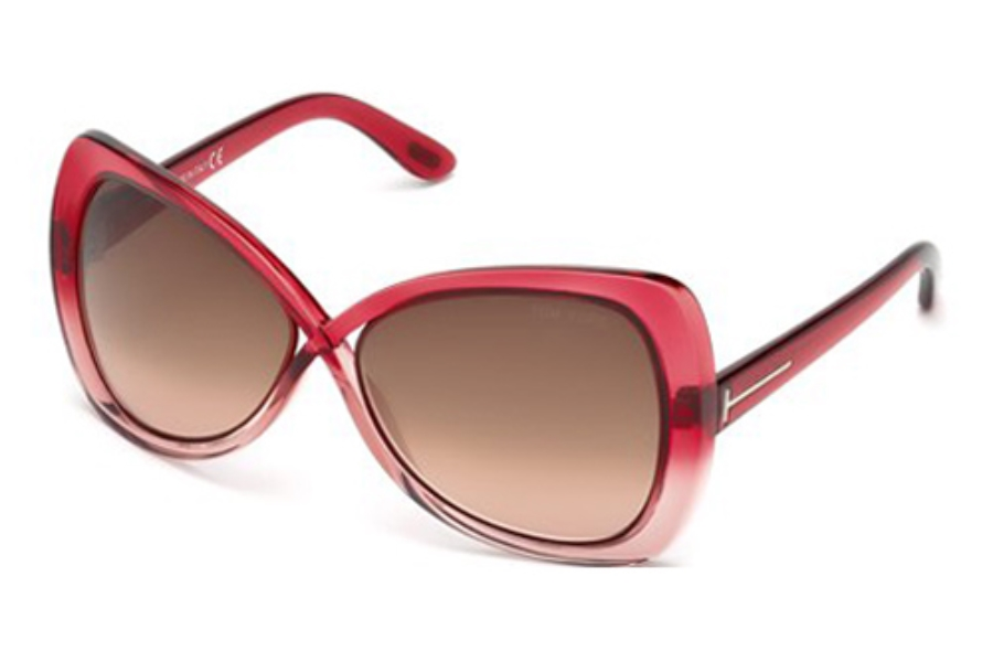 ccc7065fff Tom Ford FT0277 Jade Sunglasses in 68F Red Other   Gradient Brown ...
