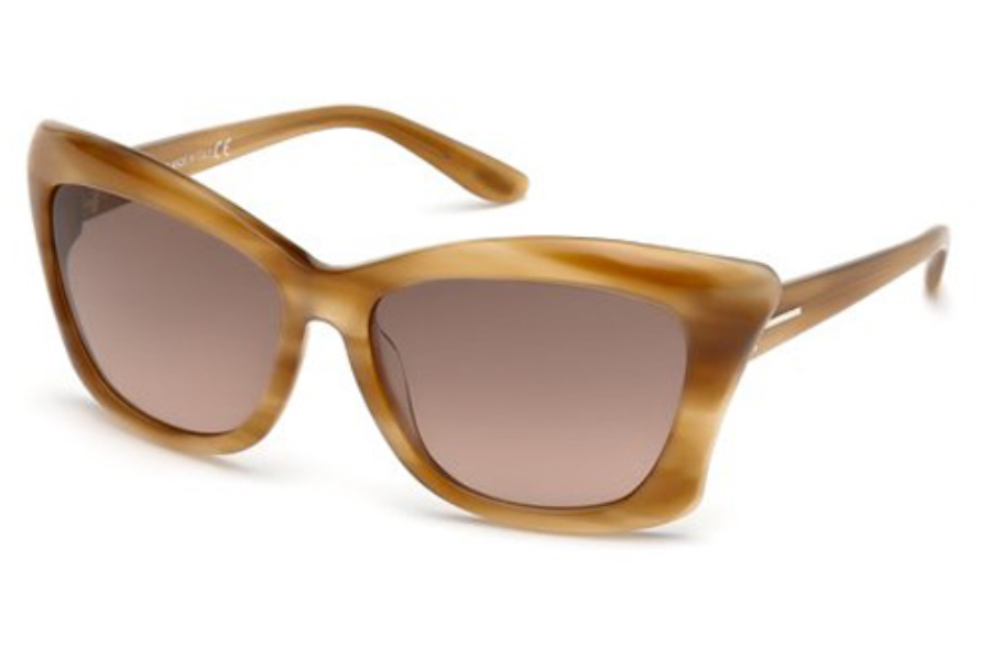 Tom Ford FT0280 Lana Sunglasses in 47F Light Brown/Other / Gradient Brown