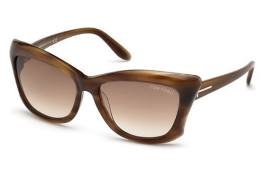 Tom Ford FT0280 Lana Sunglasses in 50F Dark Brown/Other / Gradient Brown