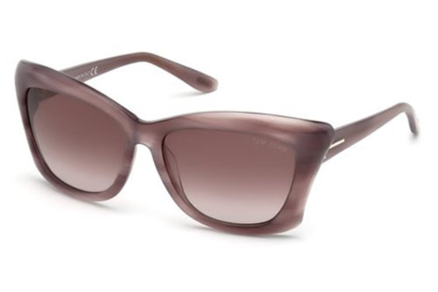Tom Ford FT0280 Lana Sunglasses in 83Z Violet/Other / Gradient Or Mirror Violet