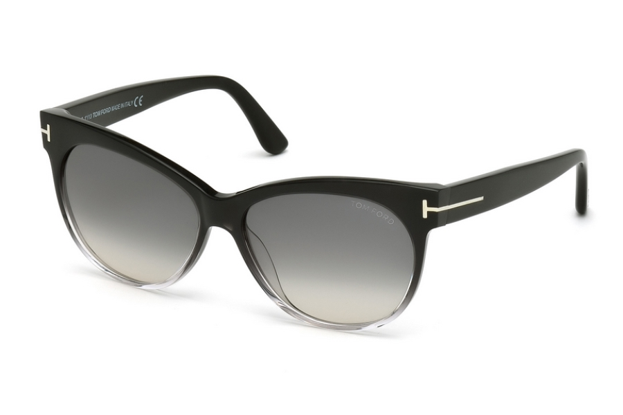 Tom Ford FT0330 Sunglasses in 05B - Black/Other / Gradient Smoke