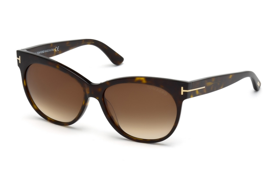 Tom Ford FT0330 Sunglasses in 56F - Havana/Other / Gradient Brown