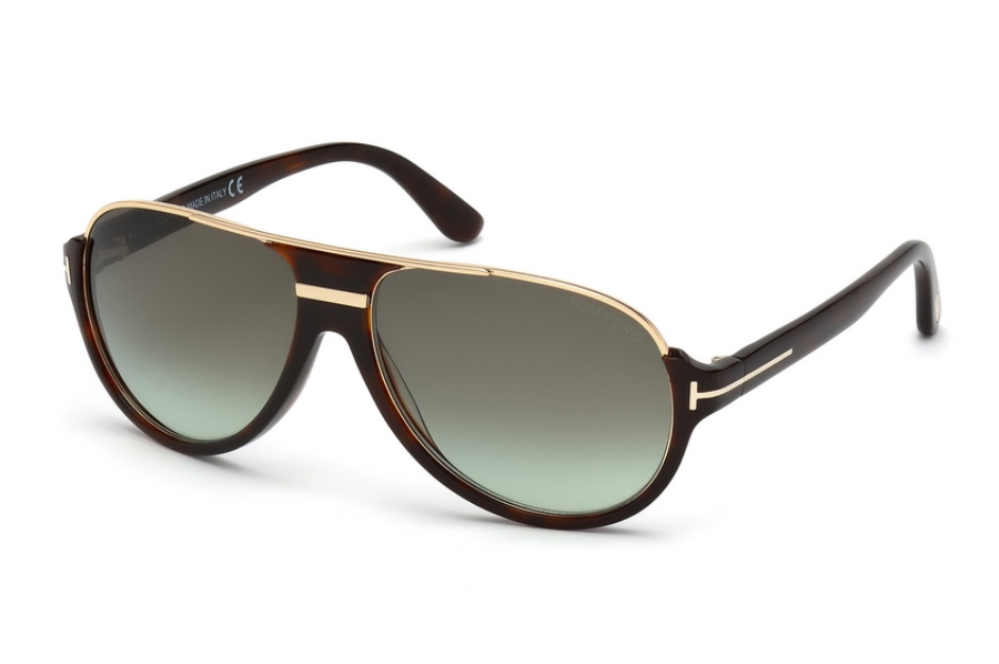 Tom Ford FT0334 Dimitry Sunglasses in 56K - Havana/Other / Gradient Roviex