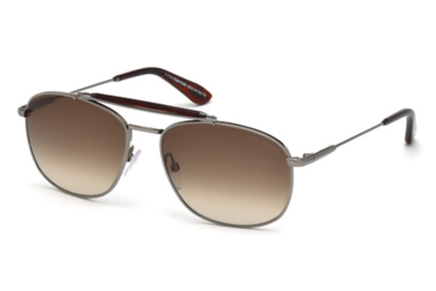 Tom Ford FT0339 Sunglasses in 09F Matte Gunmetal / Gradient Brown