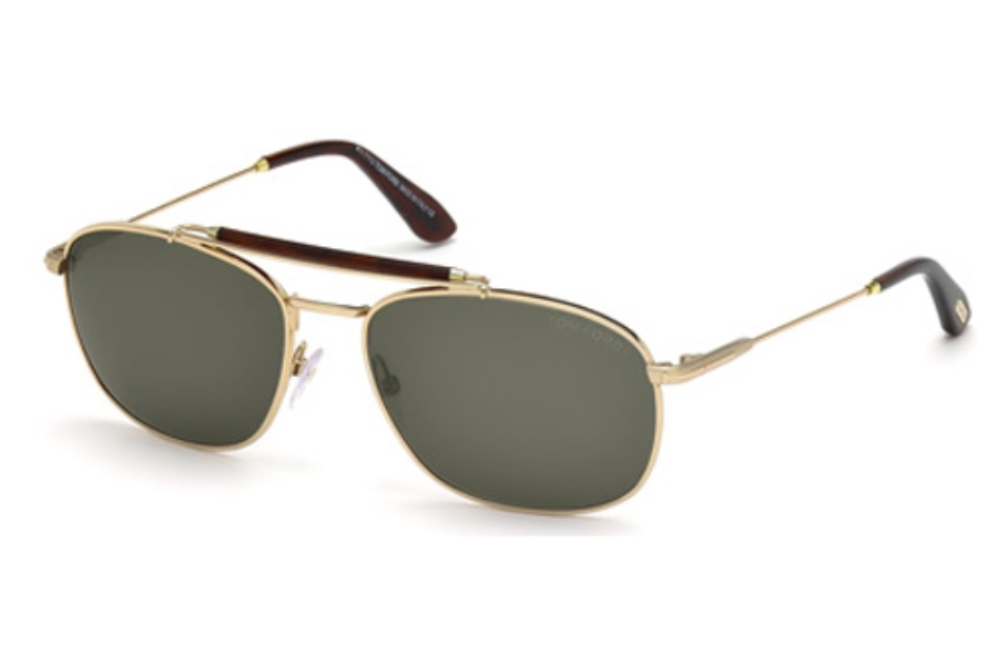 Tom Ford FT0339 Sunglasses in 28N Shiny Rose Gold / Green