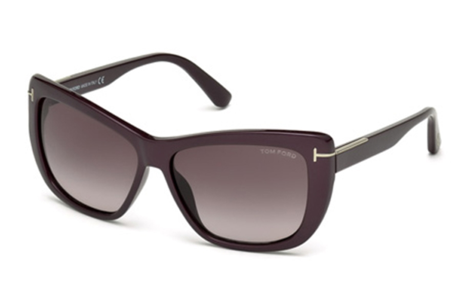 Tom Ford FT0434 Lindsay Sunglasses in 83T - Violet/Other / Gradient Bordeaux