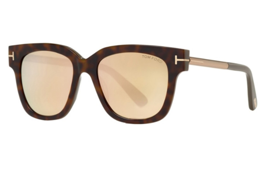 Tom Ford FT0436 Tracy Sunglasses in 56G - Havana/other / Brown Mirror