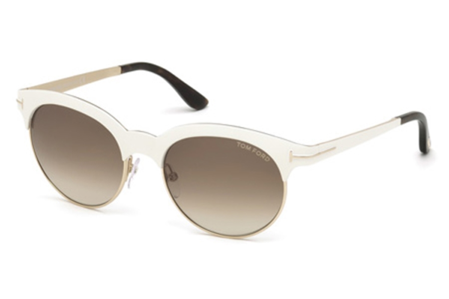 Tom Ford FT0438 Angela Sunglasses in 28F - Shiny Rose Gold / Gradient Brown