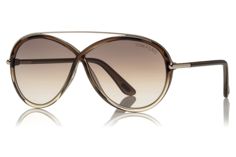 Tom Ford FT0454 Tamara Sunglasses in 38F - Bronze/other / Gradient Brown