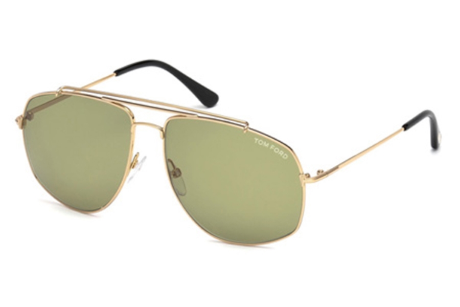 e917692cc11a ... Roviex  Tom Ford FT0496 Georges Sunglasses in 28N - Shiny Rose Gold    Green ...
