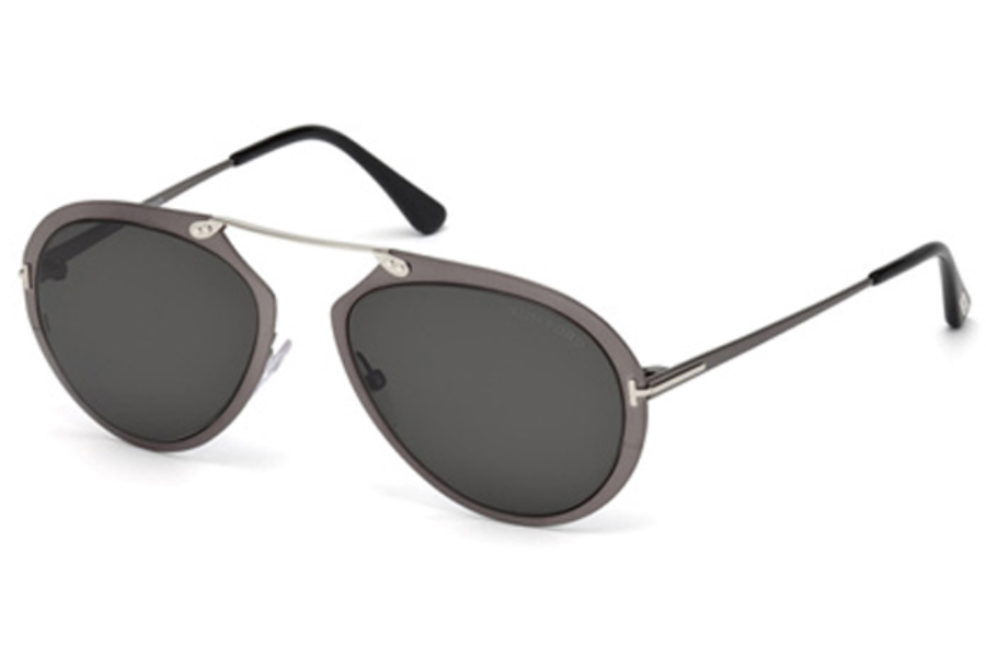 Tom Ford FT0508 Dashel Sunglasses in 08Z - Shiny Gumetal / Gradient