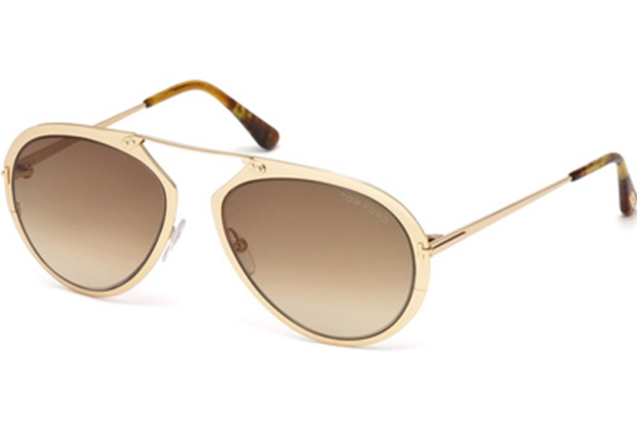 Tom Ford FT0508 Dashel Sunglasses in 28F - Shiny Rose Gold / Gradient Brown