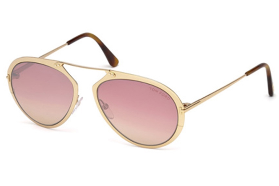 Tom Ford FT0508 Dashel Sunglasses in 28Z - Shiny Rose Gold / Gradient