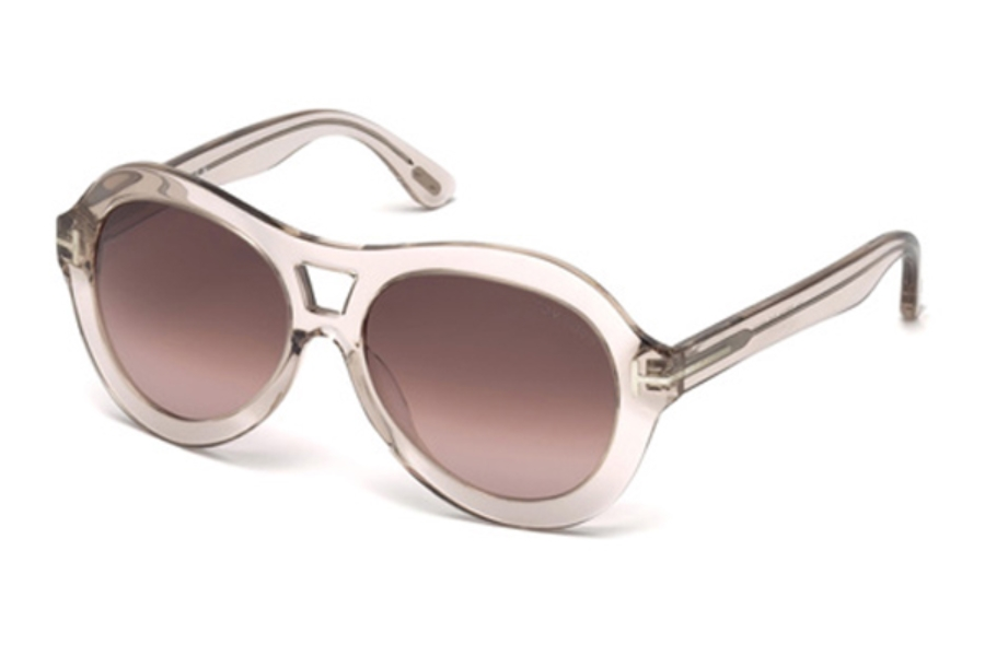 Tom Ford FT0514 Islay Sunglasses in 74S - Pink /Other / Bordeaux
