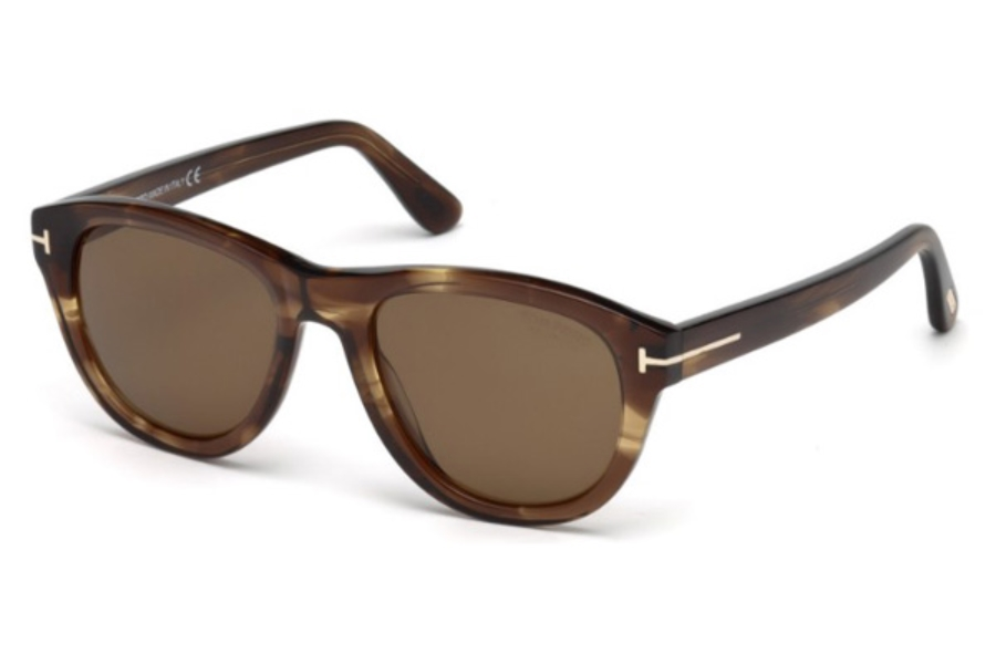 Tom Ford FT0520 Benedict Sunglasses in 50H - Dark Brown/other / Brown Polarized