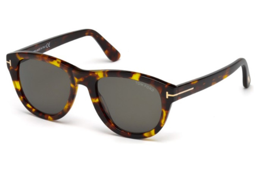 Tom Ford FT0520 Benedict Sunglasses in 52N - Dark Havana / Green