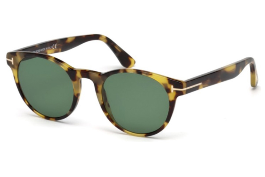 Tom Ford FT0522 Palmer Sunglasses in 56N - Havana/other / Green