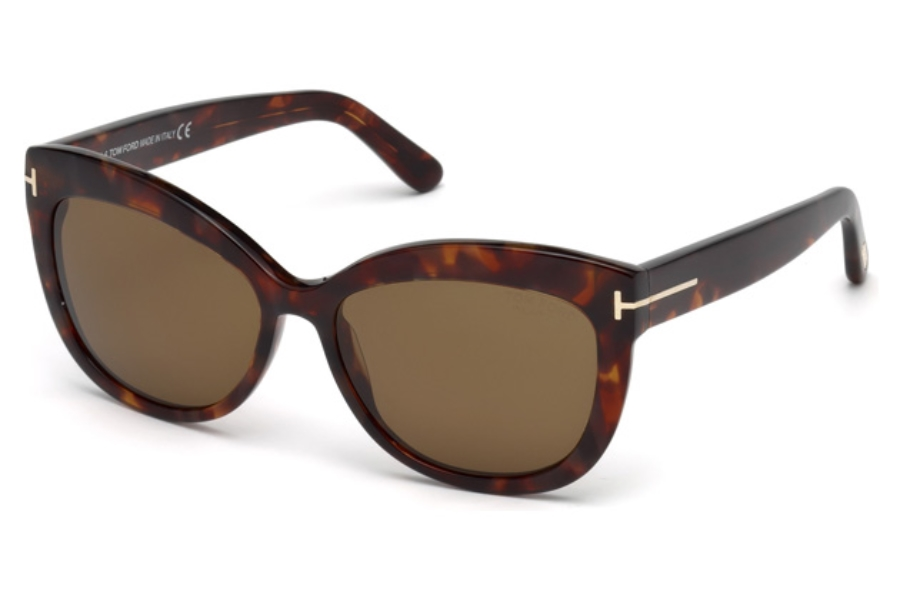 Tom Ford FT0524 Alistair Sunglasses in 54H - Red Havana / Brown Polarized