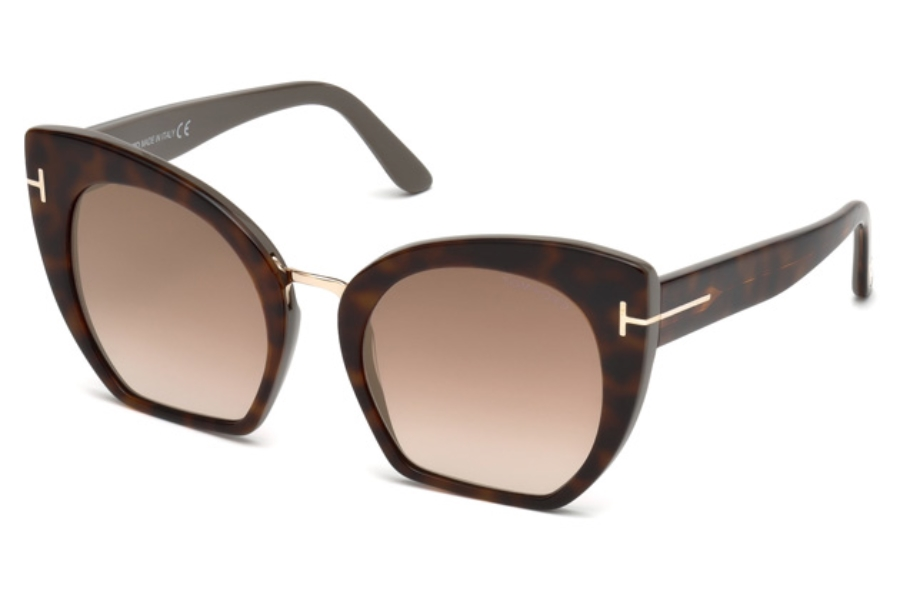 Tom Ford FT0553 Samantha-02 Sunglasses in 56G - Havana/other / Brown Mirror