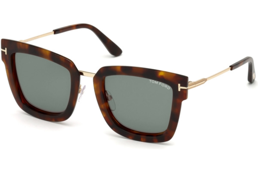 96def9f6ca ... Tom Ford FT0573 Lara-02 Sunglasses in 55A - Coloured Havana   Smoke ...